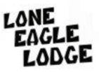 Sponsor • Constitution Week, Grand Lake, Colorado: Logo for the Lone Eagle Lodge.