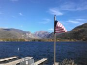 A thumb nail view of Grand Lake, Colorado during Constitution Week in September looking at the Grand Lake, Colorado; click here to open a window with a larger picture.