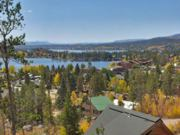 A thumb nail view of Grand Lake, Colorado during Constitution Week in September looking at Grand Lake, Shadow Mountain Lake, and to the Gore Mountain Ranger to the distant south; click here to open a window with a larger picture.