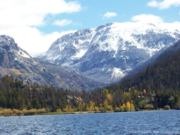A thumb nail view of Grand Lake, Colorado during Constitution Week in September looking at Mt. Craig from Shadow Mountain Lake; click here to open a window with a larger picture.